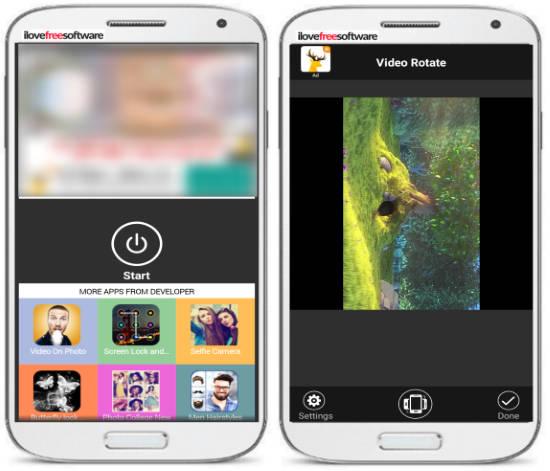 5 App per Ruotare Video su Android - Video Rotate