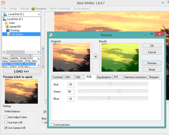 5 Programmi Gratis per Modificare Foto RAW - Able RAWer