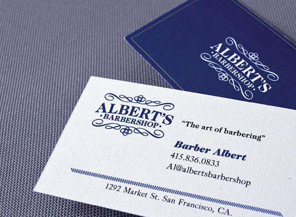 Biglietti da Visita per Parrucchieri - Albert's