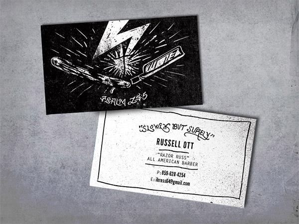 Biglietti da Visita per Parrucchieri - Barber card