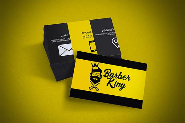 Biglietti da Visita per Parrucchieri - Barber king