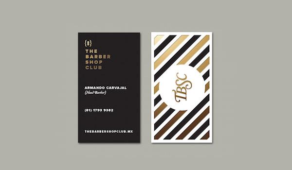 Biglietti da Visita per Parrucchieri - Barber shop club