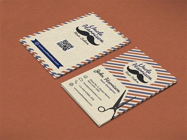 Biglietti da Visita per Parrucchieri - Retro barber shop