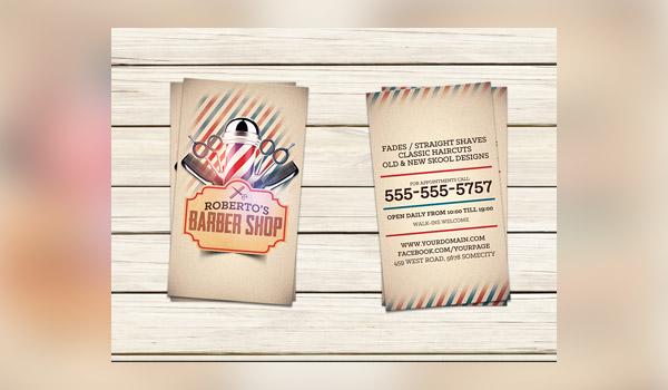 Biglietti da Visita per Parrucchieri - Roberto Barber shop