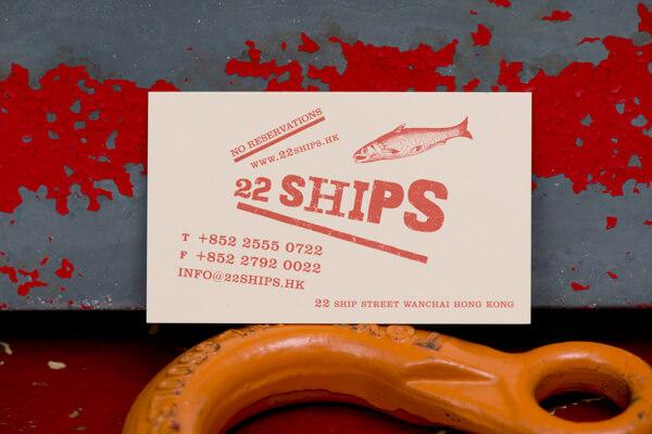 Biglietti da Visita per Ristoranti - 22 Ships
