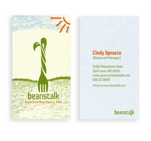 Biglietti da Visita per Ristoranti - Beanstalk