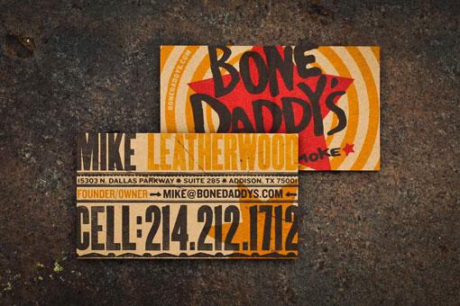 Biglietti da Visita per Ristoranti - Bone Daddy's