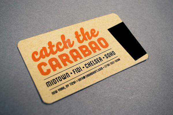 Biglietti da Visita per Ristoranti - Carabao