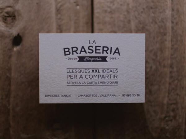 Biglietti da Visita per Ristoranti - La Braseria