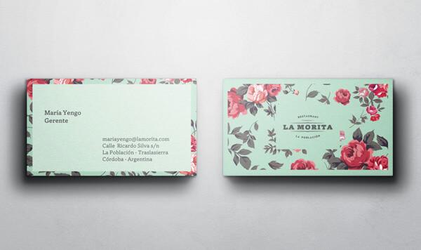 Biglietti da Visita per Ristoranti - La Morita