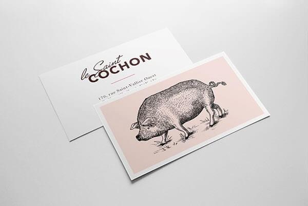 Biglietti da Visita per Ristoranti - Le Saint Cochon