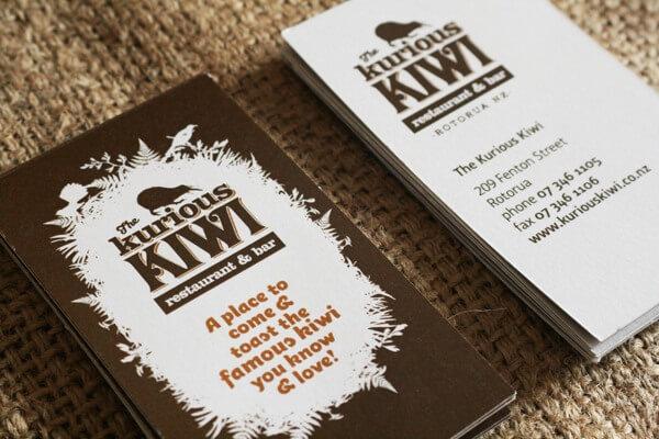 Biglietti da Visita per Ristoranti - The Kurious Kiwi