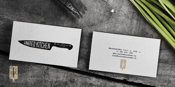 Biglietti da Visita per Ristoranti - United Kitchen