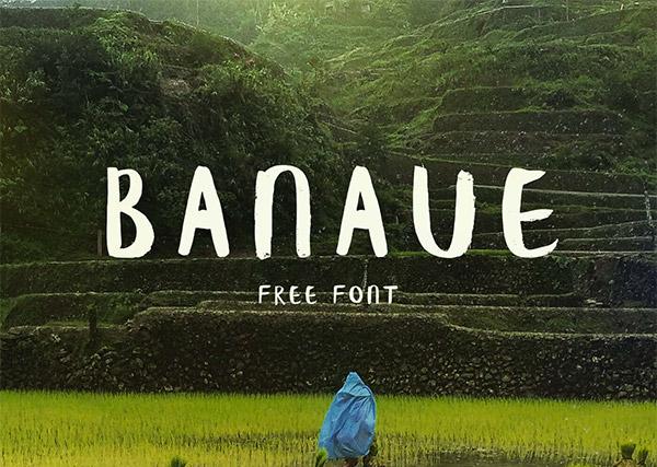 Font ad Effetto Pennello da Scaricare Gratis - Banaue