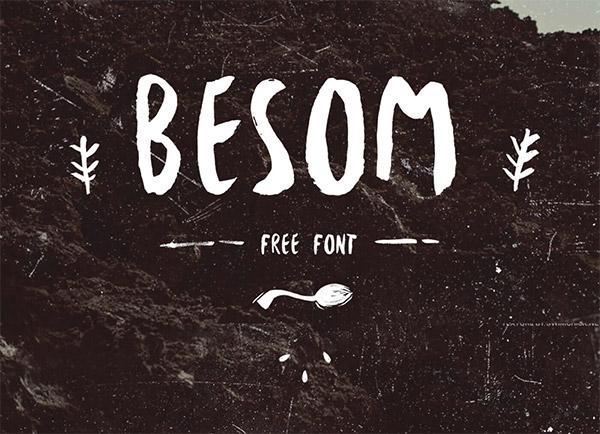 Font ad Effetto Pennello da Scaricare Gratis - Besom