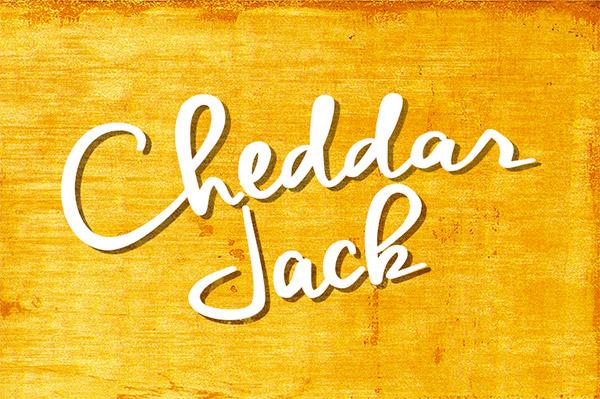 Font ad Effetto Pennello da Scaricare Gratis - Cheddar Jack