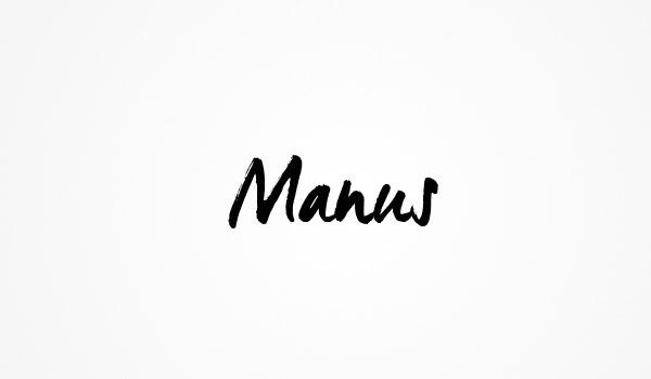 Font ad Effetto Pennello da Scaricare Gratis - Manus