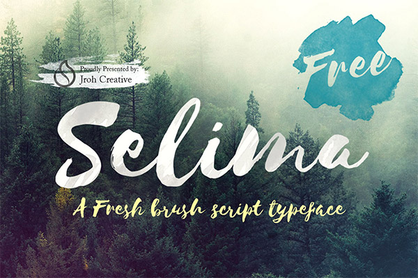Font ad Effetto Pennello da Scaricare Gratis - Selima