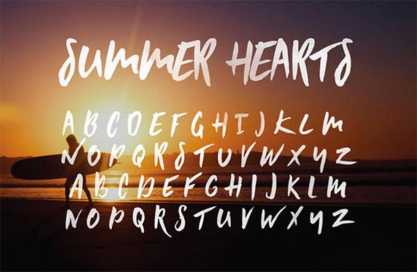 Font ad Effetto Pennello da Scaricare Gratis - Summer Heats