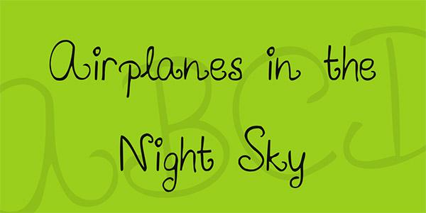 20 Bellissimi Font Femminili Gratis – Airplanes
