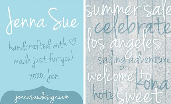 20 Bellissimi Font Femminili Gratis – Jenna Sue