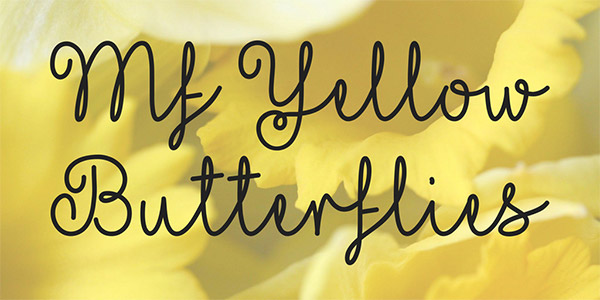 20 Bellissimi Font Femminili Gratis – Yellow Butterflies