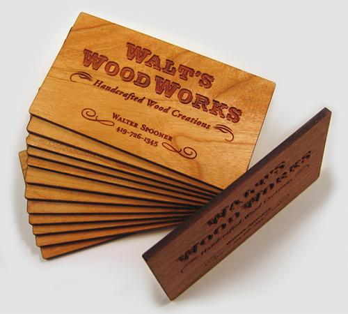 25 Modelli di Biglietti da Visita in Legno Molto Creativi - cherry wood