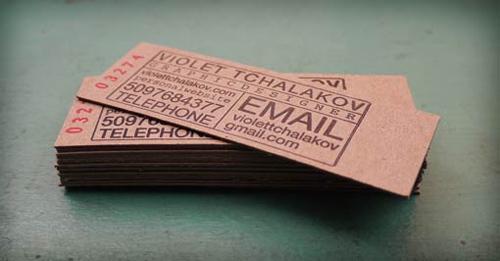 25 Modelli di Biglietti da Visita in Legno Molto Creativi - chipboard letterpress