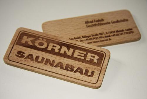 25 Modelli di Biglietti da Visita in Legno Molto Creativi - korner saunabau