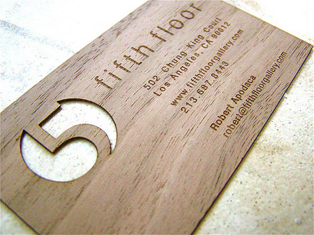 25 Modelli di Biglietti da Visita in Legno Molto Creativi - fifth floor