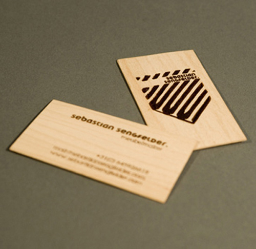 25 Modelli di Biglietti da Visita in Legno Molto Creativi - studio mingus