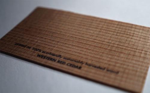 25 Modelli di Biglietti da Visita in Legno Molto Creativi - western red cedar