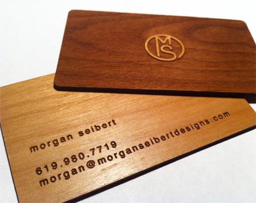 25 Modelli di Biglietti da Visita in Legno Molto Creativi - wooden business card