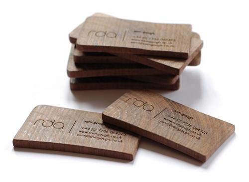 25 Modelli di Biglietti da Visita in Legno Molto Creativi - wooden business