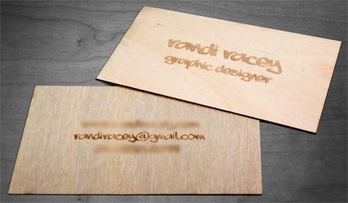 25 Modelli di Biglietti da Visita in Legno Molto Creativi - wooden card