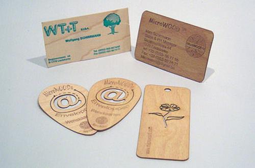 25 Modelli di Biglietti da Visita in Legno Molto Creativi - wooden real eye
