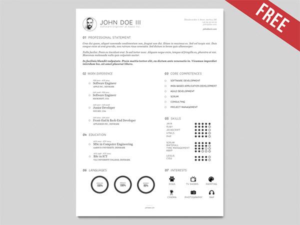 33 Modelli di Curriculum in PSD e AI per Photoshop e Illustrator - AI resume template