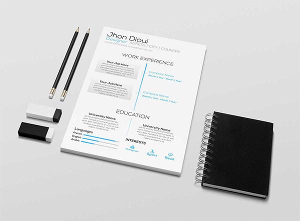 33 Modelli di Curriculum in PSD e AI per Photoshop e Illustrator - free resume CV