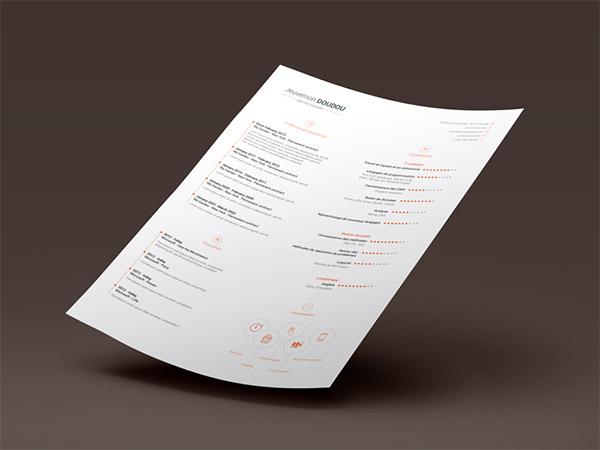 33 Modelli di Curriculum in PSD e AI per Photoshop e Illustrator - free resume template 3