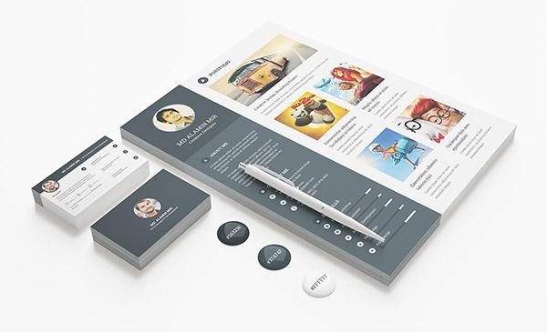 33 Modelli di Curriculum in PSD e AI per Photoshop e Illustrator - free resume template business