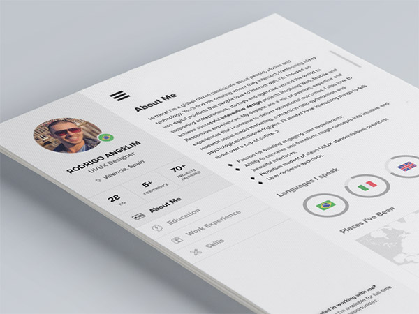 33 Modelli di Curriculum in PSD e AI per Photoshop e Illustrator - have you seen my new CV