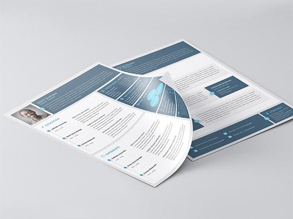 33 Modelli di Curriculum in PSD e AI per Photoshop e Illustrator - material style