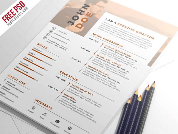 33 Modelli di Curriculum in PSD e AI per Photoshop e Illustrator - nice and clean