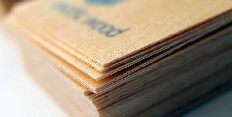 Modelli di biglietti da visita in legno
