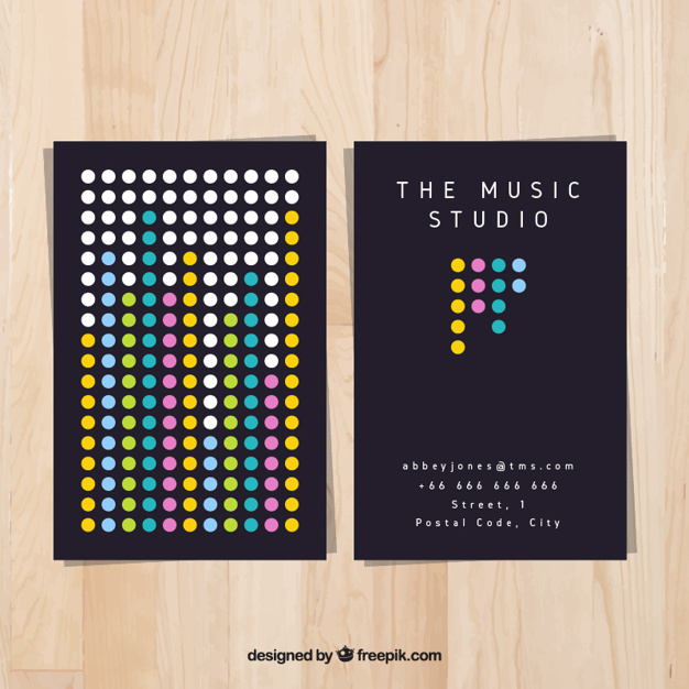 Bien-aimé 20 Modelli di Biglietti da Visita per DJ | CreaGratis.com MA42