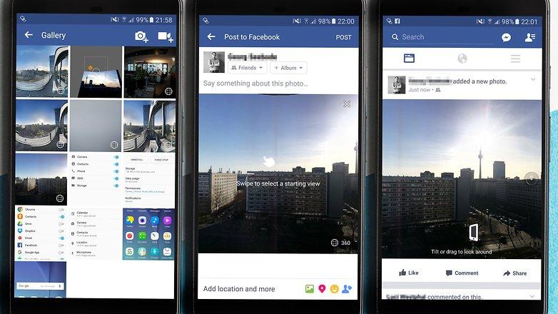 Come Fare Foto a 360 gradi - Condivisione su Facebook