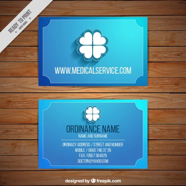 Modelli di Biglietti da Visita per Infermieri - Blue corporative card