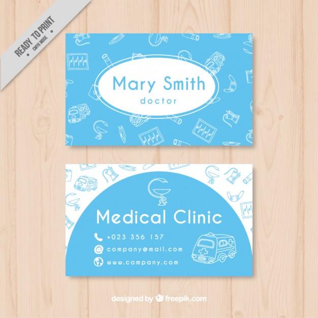 Modelli di Biglietti da Visita per Infermieri - Blue medical card