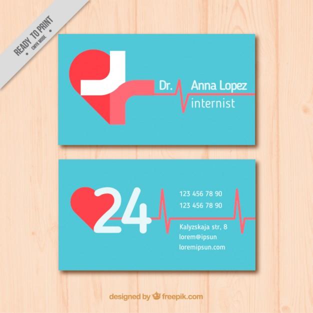 Modelli di Biglietti da Visita per Infermieri - Flat medical card
