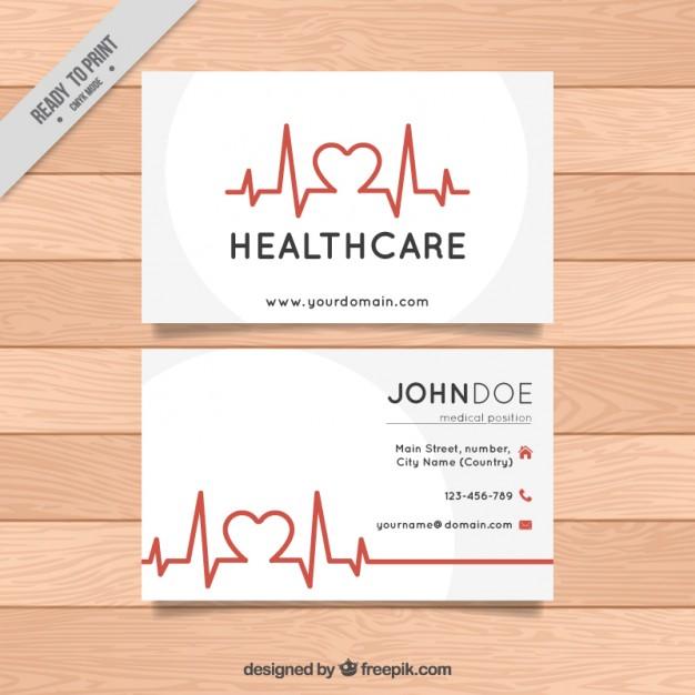 Modelli di Biglietti da Visita per Infermieri - Healthcare business card
